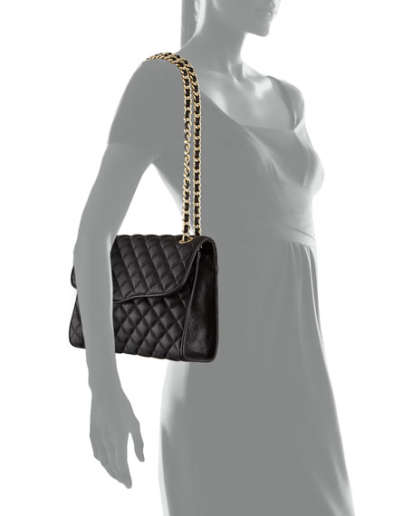 Quilted Affair Shoulder Bag, Black