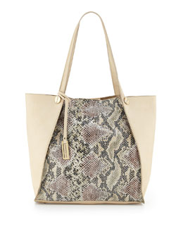 Urban Originals Wonder Snake-Print Tote Bag, Beige