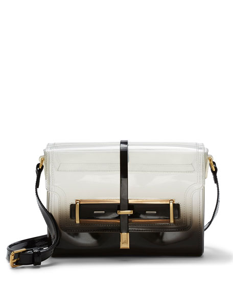 Ombre Jelly Crossbody Bag, Black