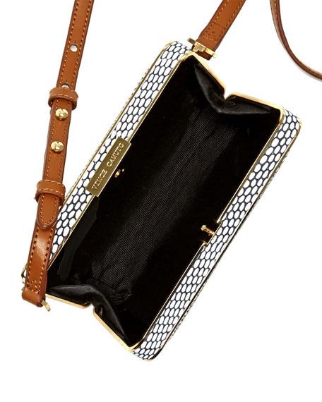 Mina Spotted Combo Crossbody Bag, Black