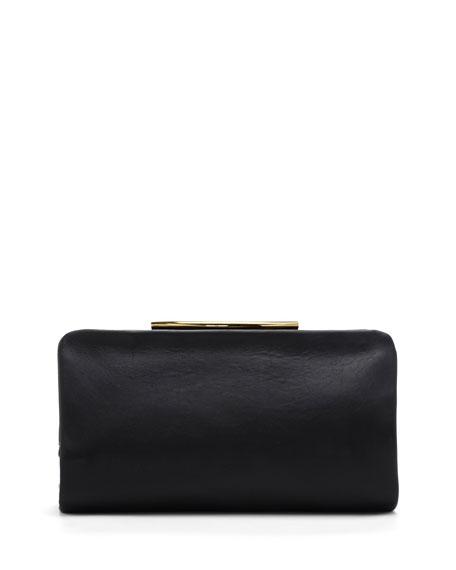 Ella Leather Clutch Bag, Black