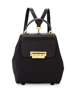 ZAC Zac Posen Eartha Nylon Structured Backpack, Black