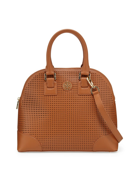 Robinson Perforated Dome Satchel Bag, Luggage