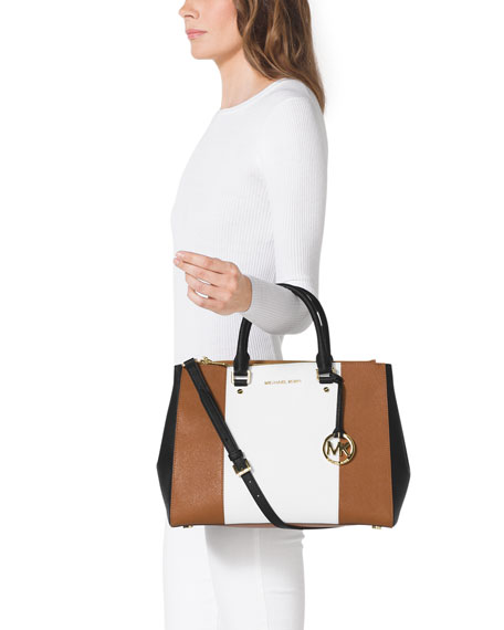 Sutton Center Stripe Satchel