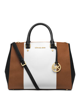 MICHAEL Michael Kors  Large Jet Set Center-Stripe Travel Tote