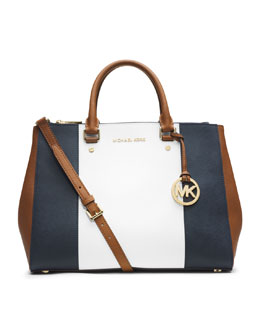 MICHAEL Michael Kors  Medium Jet Set Center-Stripe Dressy Tote