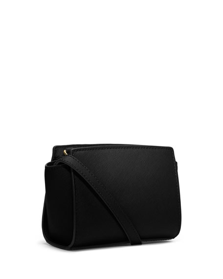 Selma Mini Messenger Bag, Black