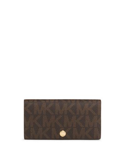 MICHAEL Michael Kors  Large Signature Slim Wallet