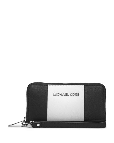 MICHAEL Michael Kors  Large Jet Set Center-Stripe Phone Case