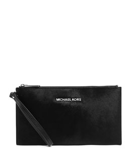 MICHAEL Michael Kors  Jet Set Travel Calf-Hair Pouch