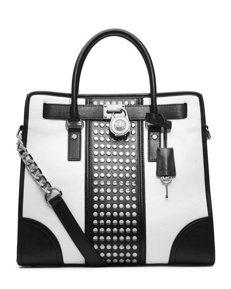 Hamilton Center-Stripe Studded Tote
