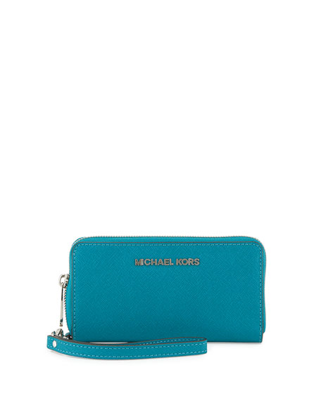 Large Jet Set Travel Multifunction Wristlet