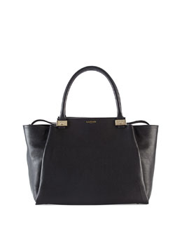 Lanvin Trilogy Leather Tote Bag, Black