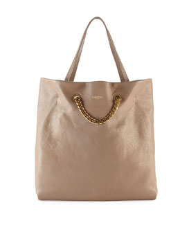 Lanvin Carry Me Lambskin Medium Tote Bag, Tan