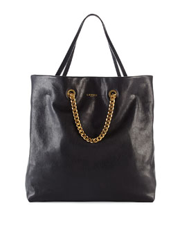 Lanvin Carry Me Lambskin Medium Tote Bag, Black