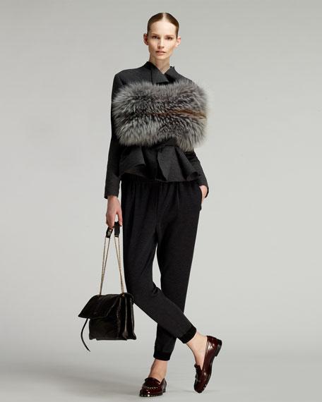 Sugar Lambskin Shoulder Bag, Black