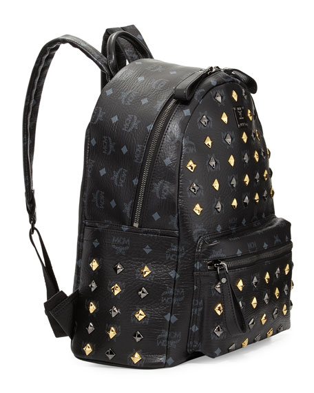 Stark Studded Backpack, Black