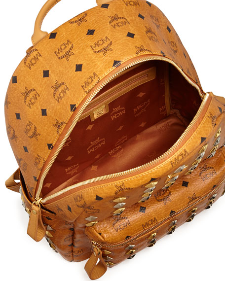 Stark Studded Backpack, Cognac