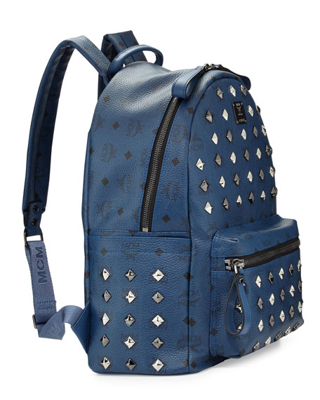 Stark Studded Backpack, Dress Blues