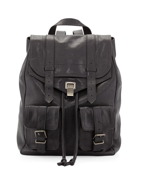PS1 Large Double-Pocket Backpack, Black