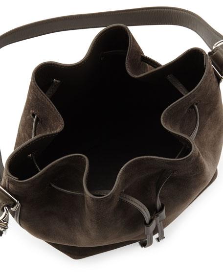 Proenza Schouler Suede Bucket Crossbody Bag, Gray