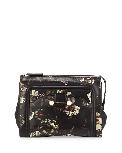 Daphne Floral-Print Clutch Bag, Multi