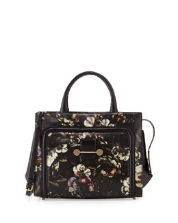 Jason Wu Daphne Floral-Print Leather Crossbody Bag