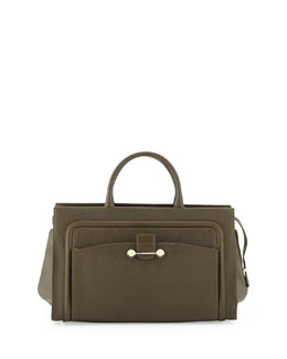 Jason Wu Daphne 2 East/West Leather Tote Bag, Olive