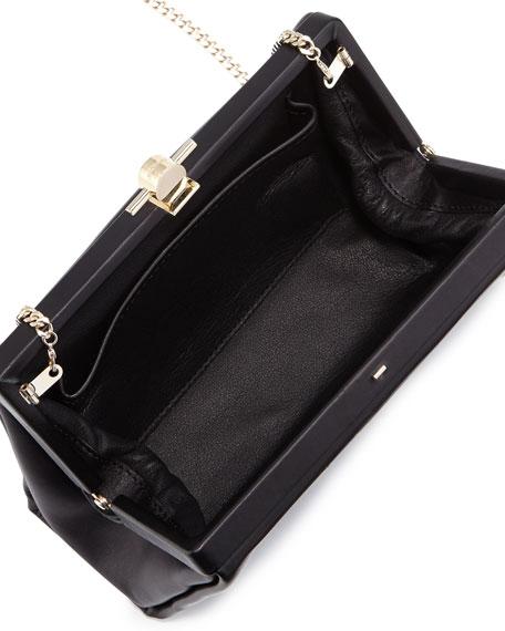 Karlie Leather Pochette Bag, Black