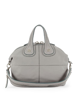 Givenchy Nightingale Sugar Satchel Bag, Gray