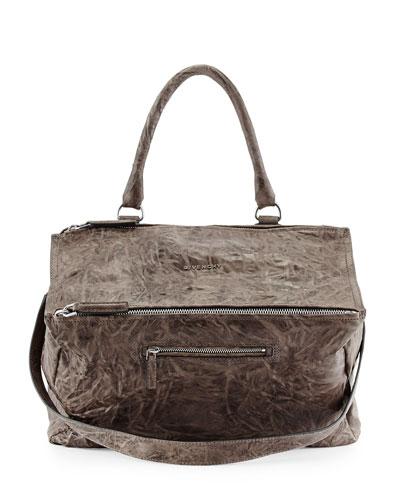 Givenchy Pandora Pepe Large Leather Bag, Charcoal