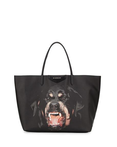 7f715f821a63 Givenchy Antigona Large Coated Canvas Shopping Tote Bag