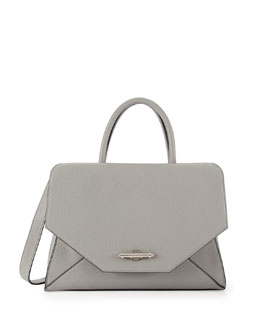 Givenchy Obsedia Hawaii Medium Top-Handle Flap Bag, Gray