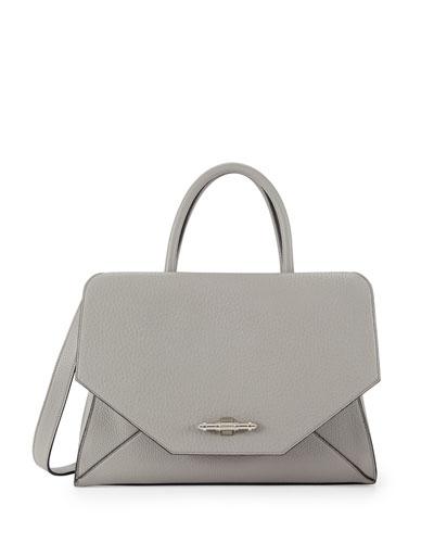 Givenchy Obsedia Hawaii Medium Top-Handle Flap Bag, Gray