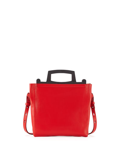 Rave Small Napa Leather Crossbody Bag, Red
