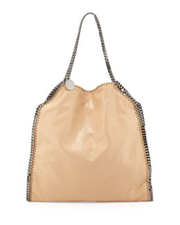 Stella McCartney Falabella Large Faux-Leather Tote Bag, Tan