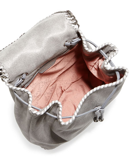 Falabella Shaggy Deer Backpack, Light Gray