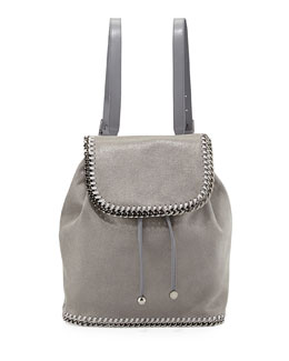 Stella McCartney Falabella Shaggy Deer Backpack, Light Gray