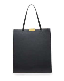 Stella McCartney Beckett Faux-Napa Tote Bag, Black