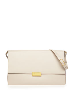 Stella McCartney Beckett Faux-Napa Shoulder Bag, Gray