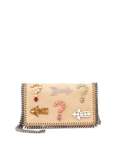 Stella McCartney Falabella Embroidered Crystal Crossbody Bag