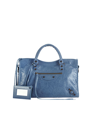Balenciaga Classic City Bag, Denim Blue