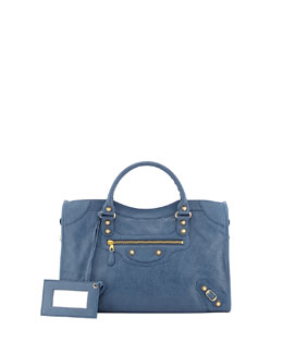 Balenciaga Giant 12 Golden City Bag, Denim