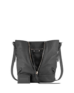 Balenciaga Papier Drop Bucket Bag, Black