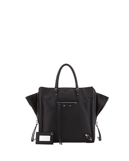 Balenciaga Papier A5 Zip Around Tote Bag, Black