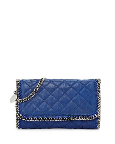 Falabella Quilted Shoulder Bag, Blue