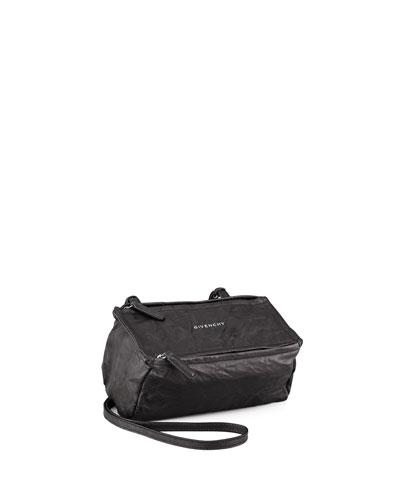 Pandora Mini Leather Crossbody Bag, Black