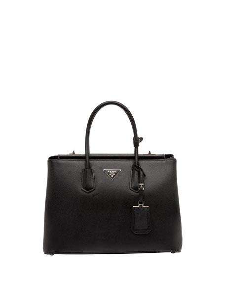 Saffiano Cuir Twin Bag, Black (Nero)
