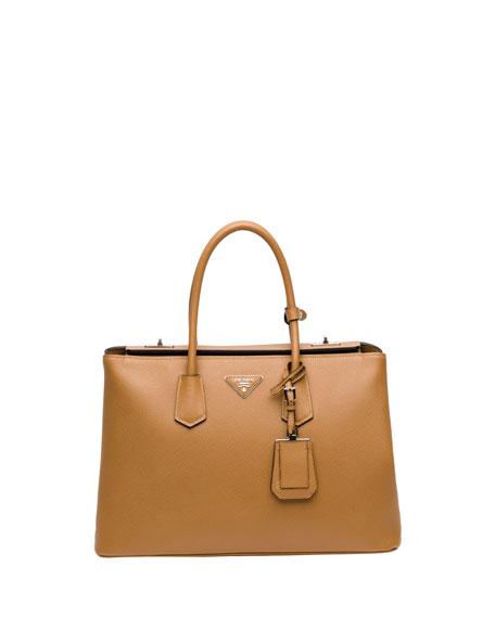 b9c92572d83108 prada colbalto blue cuir double bag double lock flap, prada bag two tone