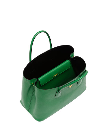 Prada Double Bag Green